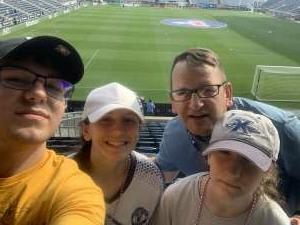 Anderson Family attended Philadelphia Union vs. Columbus - MLS on Oct 3rd 2021 via VetTix