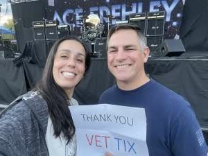 TMT attended Alice Cooper With Special Guest Ace Frehley on Oct 6th 2021 via VetTix
