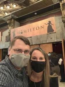 Tim Rustad attended Hamilton (touring) on Sep 28th 2021 via VetTix