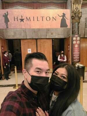 CaddyTa attended Hamilton (touring) on Sep 28th 2021 via VetTix