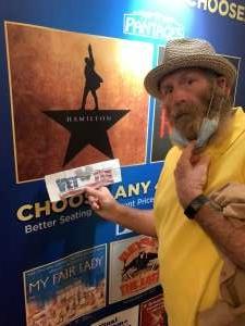 Alan B. attended Hamilton (touring) on Sep 28th 2021 via VetTix