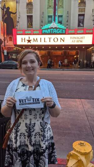 Ed attended Hamilton (touring) on Sep 28th 2021 via VetTix