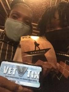 Vince attended Hamilton (touring) on Sep 28th 2021 via VetTix