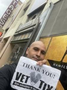 Jose attended Hamilton (touring) on Sep 28th 2021 via VetTix