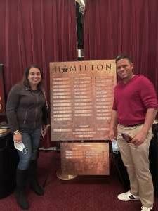 Anthony R. attended Hamilton (touring) on Sep 28th 2021 via VetTix
