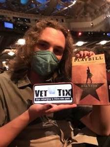 Aiello Family attended Hamilton (touring) on Sep 28th 2021 via VetTix