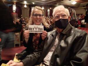 Terri and George attended Hamilton (touring) on Oct 6th 2021 via VetTix
