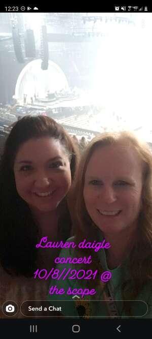 Christina attended Lauren Daigle on Oct 8th 2021 via VetTix