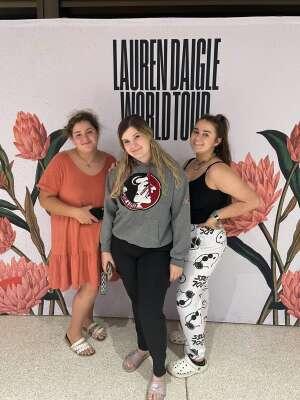 Misty  attended Lauren Daigle on Oct 8th 2021 via VetTix