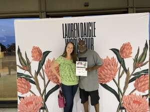 Curtis attended Lauren Daigle on Oct 8th 2021 via VetTix