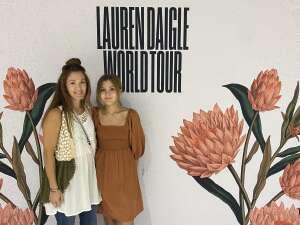 Kelly attended Lauren Daigle on Oct 8th 2021 via VetTix