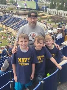 John Manning attended Navy Midshipman vs. SMU Mustangs - NCAA Football on Oct 9th 2021 via VetTix