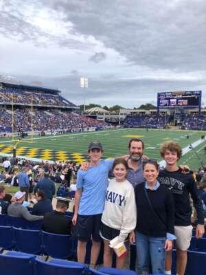APG attended Navy Midshipman vs. SMU Mustangs - NCAA Football on Oct 9th 2021 via VetTix