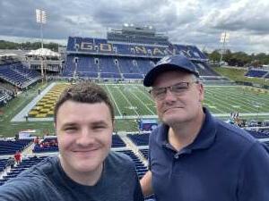 Andrew attended Navy Midshipman vs. SMU Mustangs - NCAA Football on Oct 9th 2021 via VetTix