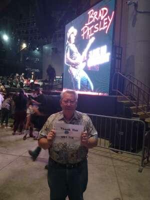 Charlie R attended Brad Paisley Tour 2021 on Oct 8th 2021 via VetTix