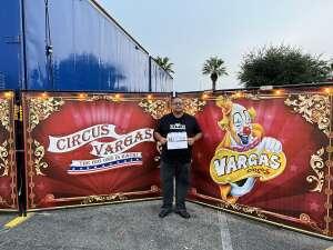 RAMON FRAYDEALFARO JR. attended Circus Vargas on Oct 7th 2021 via VetTix