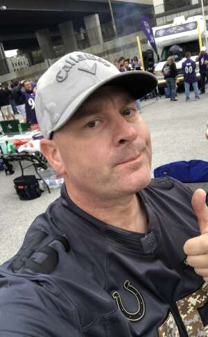 Jarod attended Baltimore Ravens vs. Indianapolis Colts - NFL on Oct 11th 2021 via VetTix
