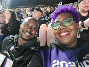 Tyree attended Baltimore Ravens vs. Indianapolis Colts - NFL on Oct 11th 2021 via VetTix