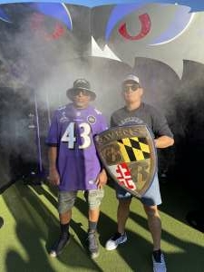 Lu attended Baltimore Ravens vs. Indianapolis Colts - NFL on Oct 11th 2021 via VetTix