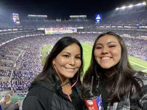 April attended Baltimore Ravens vs. Indianapolis Colts - NFL on Oct 11th 2021 via VetTix