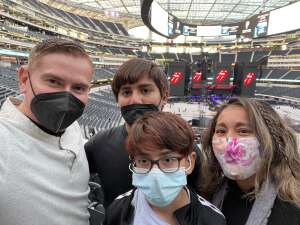 Mikey & Family! attended The Rolling Stones - No Filter 2021 on Oct 14th 2021 via VetTix