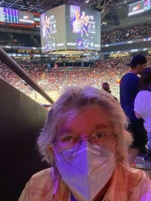 Judy attended 2021 WNBA Finals Game 2 Phoenix Mercury vs. Chicago Sky on Oct 13th 2021 via VetTix