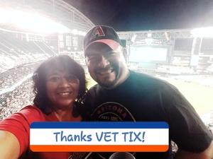 Ricky attended Arizona Diamondbacks vs. San Francisco Giants - MLB on Apr 6th 2017 via VetTix