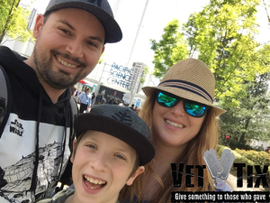 Joy attended Pacific Science Center on May 14th 2017 via VetTix