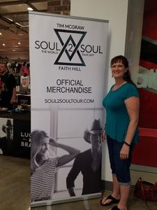 Debbie attended Soul2Soul the World Tour 2017 on May 26th 2017 via VetTix