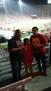 Gregory attended University of Southern California Trojans vs. Stanford - NCAA Football on Sep 9th 2017 via VetTix