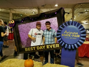 Greg attended Arizona State Fair Armed Forces Day - Tickets Are Only Good for October 20th on Oct 20th 2017 via VetTix