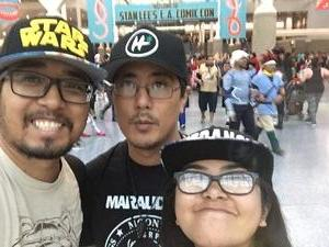 Albert attended Stan Lee's Los Angeles Comic Con - Tickets Are Good for All 3 Days on Oct 27th 2017 via VetTix