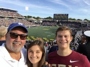 Steve van der Werff attended Navy Midshipmen vs. UCF - NCAA Football on Oct 21st 2017 via VetTix