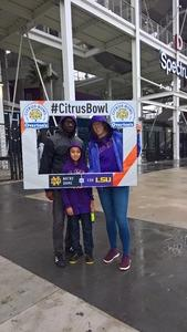 Catherine attended Citrus Bowl Presented by Overton's - Notre Dame Fighting Irish vs. LSU Tigers - NCAA Football on Jan 1st 2018 via VetTix