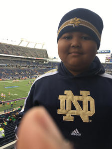 Andre attended Citrus Bowl Presented by Overton's - Notre Dame Fighting Irish vs. LSU Tigers - NCAA Football on Jan 1st 2018 via VetTix
