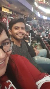 Sayda attended Arizona Coyotes vs. San Jose Sharks - NHL on Jan 16th 2018 via VetTix