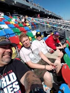 Jimmy attended Daytona 500 - the Great American Race - Monster Energy NASCAR Cup Series on Feb 18th 2018 via VetTix