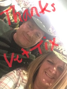 Allen attended Brad Paisley - Weekend Warrior World Tour With Dustin Lynch, Chase Bryant and Lindsay Ell on Jan 27th 2018 via VetTix