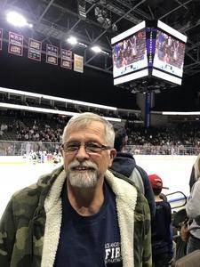 James attended Jacksonville Icemen vs. Atlanta Gladiators - ECHL on Feb 10th 2018 via VetTix