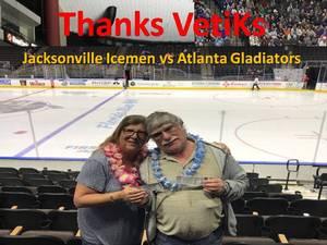Salvatore attended Jacksonville Icemen vs. Atlanta Gladiators - ECHL on Feb 10th 2018 via VetTix