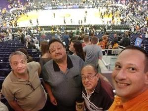 David attended Phoenix Suns vs. Denver Nuggets - NBA on Feb 10th 2018 via VetTix