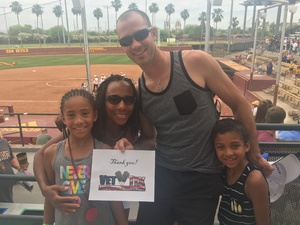 Alexia attended Honor Row - Arizona State Lady Devils vs. Stanford - NCAA Women's Softball on May 6th 2018 via VetTix