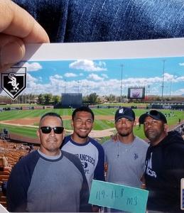 Andreas attended Chicago White Sox vs. Texas Rangers - MLB Spring Training on Feb 28th 2018 via VetTix