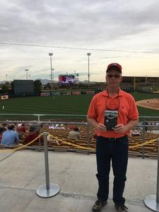Frank attended Chicago White Sox vs. Cincinnati Reds - MLB Spring Training on Mar 7th 2018 via VetTix