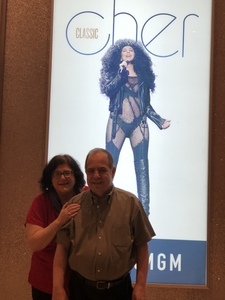 Edward attended Cher Live at the MGM National Harbor Theater on Feb 22nd 2018 via VetTix