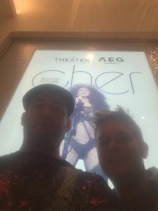 Duane attended Cher Live at the MGM National Harbor Theater on Feb 22nd 2018 via VetTix