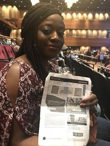 Lachanda attended Cher Live at the MGM National Harbor Theater on Feb 22nd 2018 via VetTix