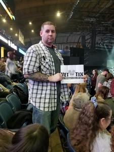 James attended Brad Paisley - Weekend Warrior World Tour With Dustin Lynch, Chase Bryant and Lindsay Ell on Feb 24th 2018 via VetTix