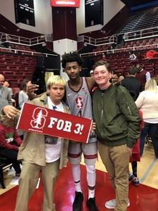 Corey attended Stanford Cardinal vs. Washington State - NCAA Men's Basketball on Feb 24th 2018 via VetTix