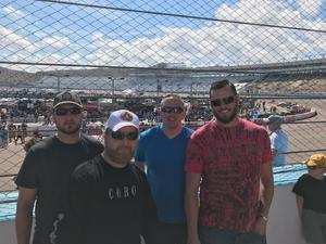Darius Frawley attended 2018 TicketGuardian 500 - Monster Energy NASCAR Cup Series on Mar 11th 2018 via VetTix